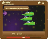 Example of a game for learning language