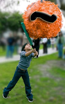 Photo of a tilde piñata
