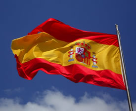 Photo of a Spanish flag (from: www.pexels.com)