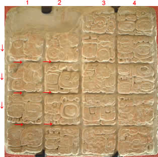 Example of Mayan writing
